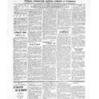 Le Journal de l'arrondissement de Valognes, numéro du 26 novembre 1909