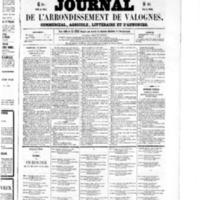 Le Journal de l'arrondissement de Valognes, numéro du 24 octobre 1856