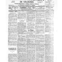 Le Journal de l'arrondissement de Valognes, numéro du 28 octobre 1939