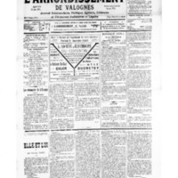 Le Journal de l'arrondissement de Valognes, numéro du 17 novembre 1934