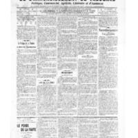 Le Journal de l'arrondissement de Valognes, numéro du 02 avril 1909