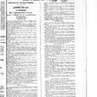 Le Journal de Cherbourg et du département de la Manche, supplément au numéro du 15 septembre 1833