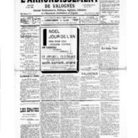 Le Journal de l'arrondissement de Valognes, numéro du 21 décembre 1935