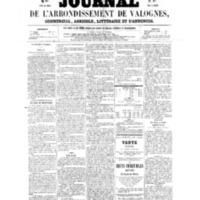 Le Journal de l'arrondissement de Valognes, numéro du 08 octobre 1858
