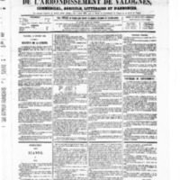 Le Journal de l'arrondissement de Valognes, numéro du 16 octobre 1868
