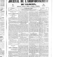 Le Journal de l'arrondissement de Valognes, numéro du 16 août 1850
