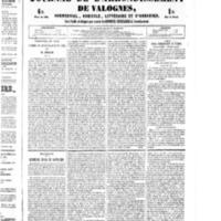 Le Journal de l'arrondissement de Valognes, numéro du 27 août 1852
