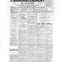 Le Journal de l'arrondissement de Valognes, numéro du 14 septembre 1935