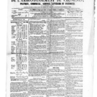 Le Journal de l'arrondissement de Valognes, numéro du 30 juillet 1880