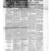 Le Journal de l'arrondissement de Valognes, numéro du 25 octobre 1889