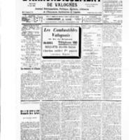 Le Journal de l'arrondissement de Valognes, numéro du 19 janvier 1935