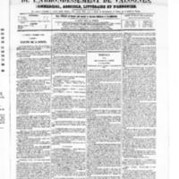 Le Journal de l'arrondissement de Valognes, numéro du 09 octobre 1868