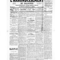 Le Journal de l'arrondissement de Valognes, numéro du 09 novembre 1935