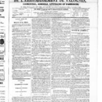 Le Journal de l'arrondissement de Valognes, numéro du 22 mars 1867