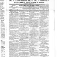 Le Journal de l'arrondissement de Valognes, numéro du 17 septembre 1886