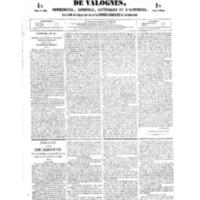 Le Journal de l'arrondissement de Valognes, numéro du 26 mai 1854