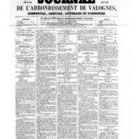 Le Journal de l'arrondissement de Valognes, numéro du 25 mars 1859