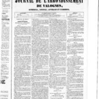 Le Journal de l'arrondissement de Valognes, numéro du 23 janvier 1852