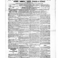 Le Journal de l'arrondissement de Valognes, numéro du 02 janvier 1880
