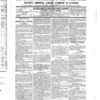 Le Journal de l'arrondissement de Valognes, numéro du 20 août 1886