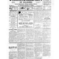 Le Journal de l'arrondissement de Valognes, numéro du 25 mai 1935
