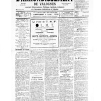 Le Journal de l'arrondissement de Valognes, numéro du 13 avril 1935