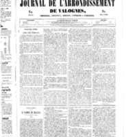 Le Journal de l'arrondissement de Valognes, numéro du 10 mai 1850