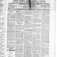 Le Journal de l'arrondissement de Valognes, numéro du 28 novembre 1890