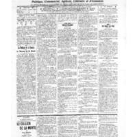 Le Journal de l'arrondissement de Valognes, numéro du 15 octobre 1909