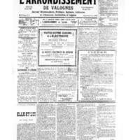 Le Journal de l'arrondissement de Valognes, numéro du 09 mars 1935