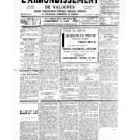 Le Journal de l'arrondissement de Valognes, numéro du 15 juin 1935