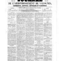 Le Journal de l'arrondissement de Valognes, numéro du 08 avril 1859