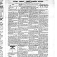 Le Journal de l'arrondissement de Valognes, numéro du 16 juillet 1875