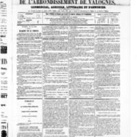 Le Journal de l'arrondissement de Valognes, numéro du 24 mai 1867