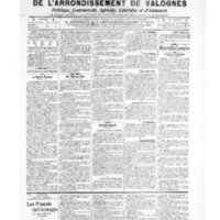 Le Journal de l'arrondissement de Valognes, numéro du 18 octobre 1907