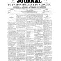 Le Journal de l'arrondissement de Valognes, numéro du 07 mai 1858