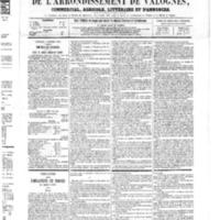 Le Journal de l'arrondissement de Valognes, numéro du 03 février 1865