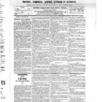Le Journal de l'arrondissement de Valognes, numéro du 19 février 1875