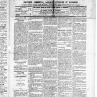 Le Journal de l'arrondissement de Valognes, numéro du 02 août 1889