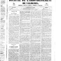 Le Journal de l'arrondissement de Valognes, numéro du 03 mai 1850