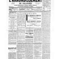 Le Journal de l'arrondissement de Valognes, numéro du 22 juin 1935