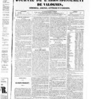 Le Journal de l'arrondissement de Valognes, numéro du 20 décembre 1850