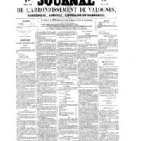 Le Journal de l'arrondissement de Valognes, numéro du 16 avril 1858