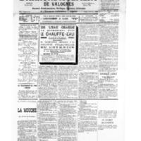 Le Journal de l'arrondissement de Valognes, numéro du 28 juillet 1934