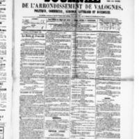 Le Journal de l'arrondissement de Valognes, numéro du 24 septembre 1880