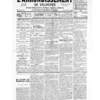 Le Journal de l'arrondissement de Valognes, numéro du 31 août 1935