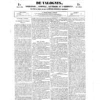 Le Journal de l'arrondissement de Valognes, numéro du 06 octobre 1854