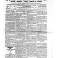Le Journal de l'arrondissement de Valognes, numéro du 25 novembre 1881