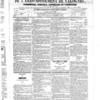 Le Journal de l'arrondissement de Valognes, numéro du 01 décembre 1865