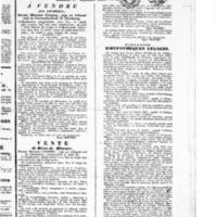 Le Journal de Cherbourg et du département de la Manche, supplément au numéro du 01 septembre 1833